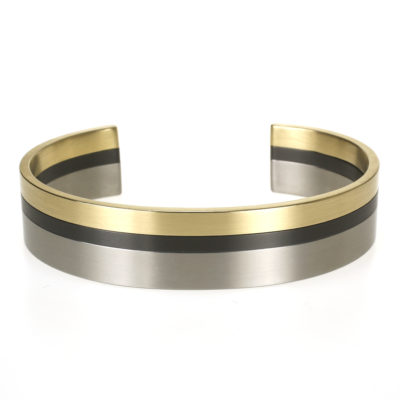 Armband goud zwart titanium
