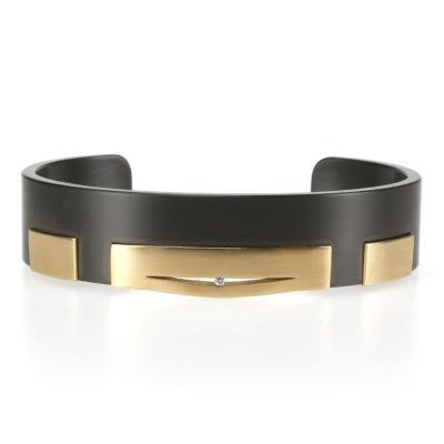 Zwarte herinnering armband