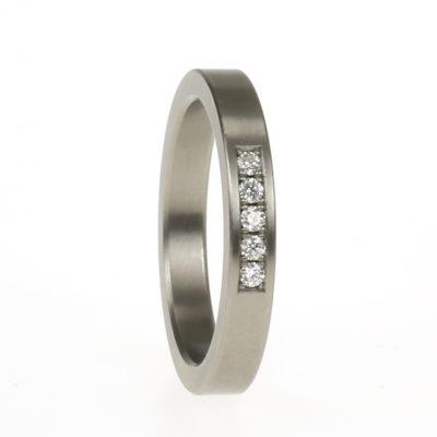 klassiek titanium trouwring 2