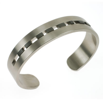 Armband morse titanium zirkonium