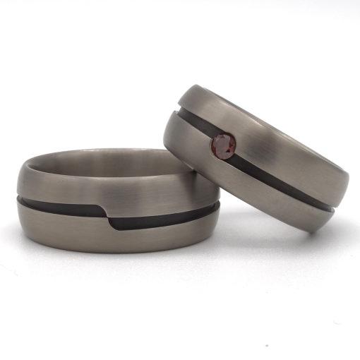 Bolle titanium ringen set 1