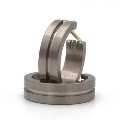 titanium creolen oorbellen