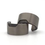 titanium moderne brede creolen oorbellen