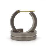 titanium moderne creolen oorbellen
