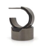 titanium strakke brede creolen oorbellen