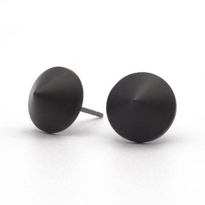 zwarte studs oorbellen zirkonium