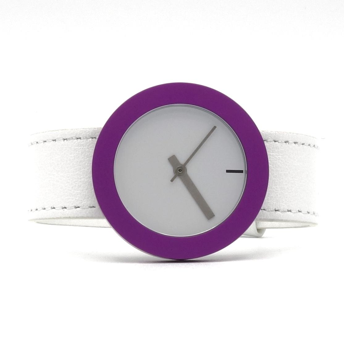 wit horloge met verwisselbare rand, veel kleuren