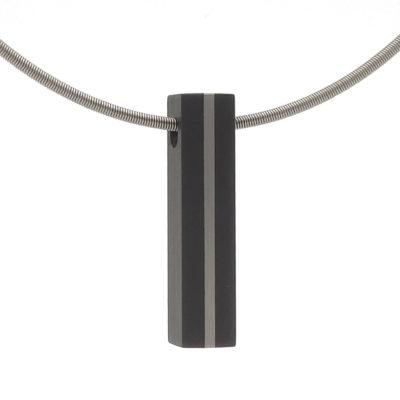 rechthoekige hanger met platina