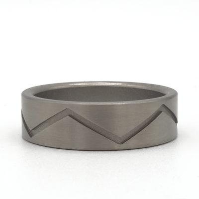 Duimring titanium zigzag