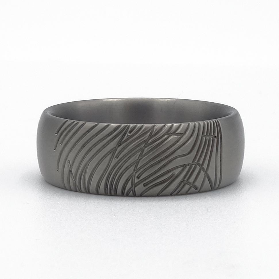 ring met vingerafdruk overledene