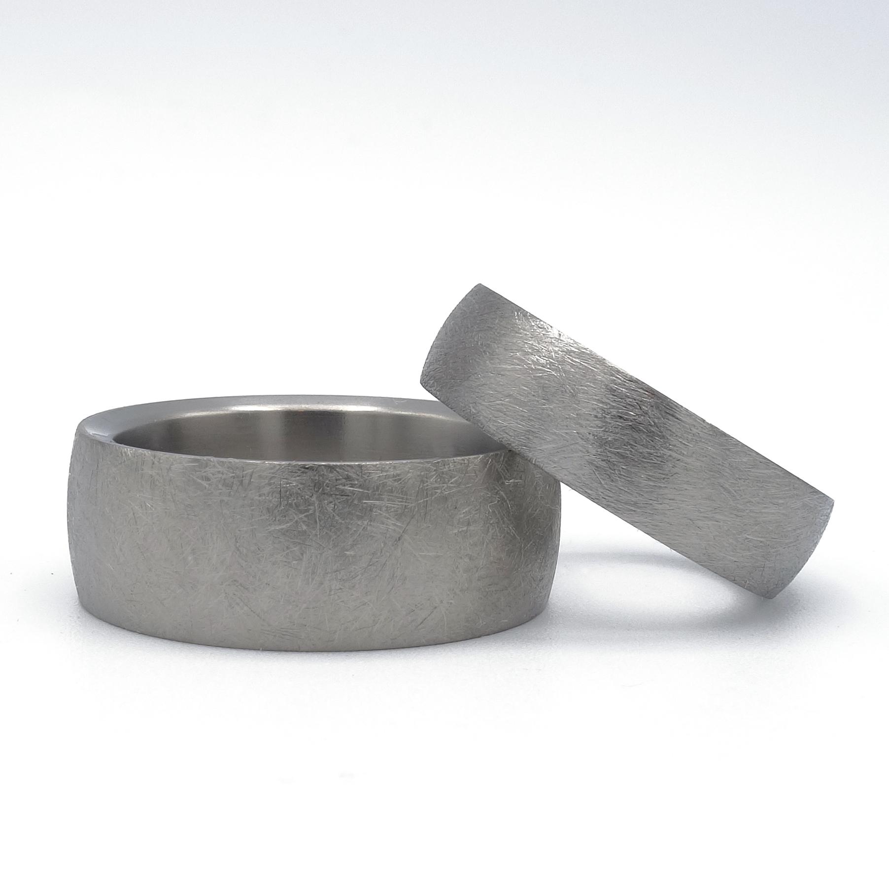stoere trouwringen van titanium